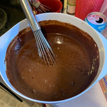 Beautiful chocolate batter